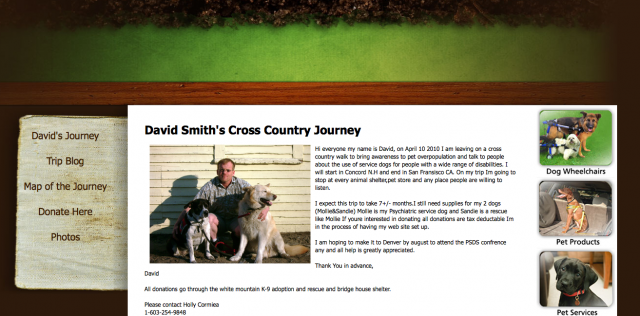 David Smith\'s Cross Country Journey
