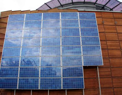 Solar electric power works very well for business